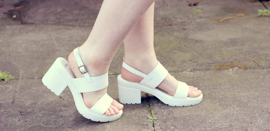 White Asos Sandals